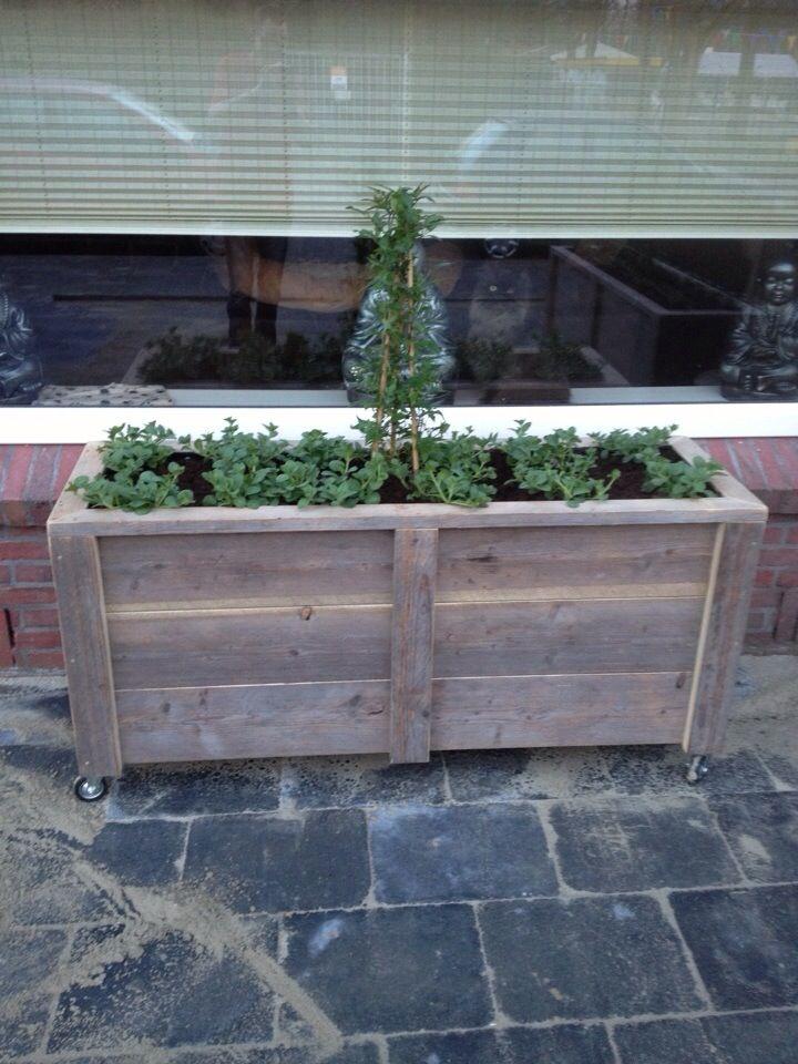 steigerhouten meubelen / houten bloembak steigerhout / maatwerk mogelijk