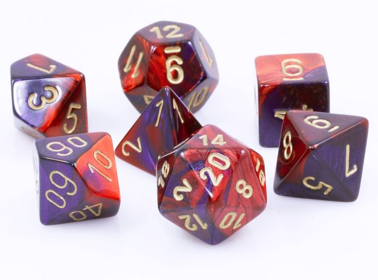 Gemini Dice (Red and Purple) RPG Role Playing Game Dice Set