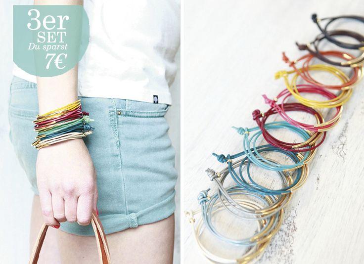 """Set van 3 armbanden """"Tingval"""" // heldere kleuren  van ♠pikfine // all selfmade stuff op DaWanda.com"""
