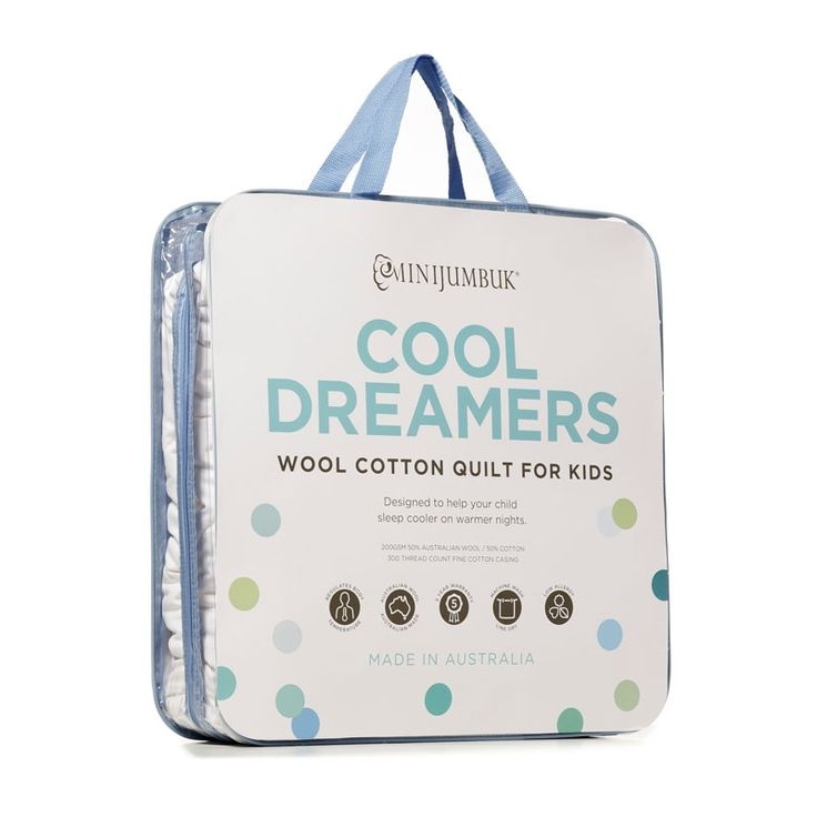 We love our new kids packaging for the lightweight summer quilt designed specially for kids. #CoolDreamers #quilts #bedding #MiniJumbuk #AustralianMade #Kids #lightweight #summer