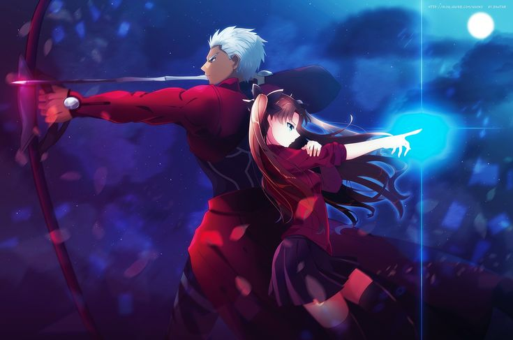 Anime 2000x1326 anime Archer (Fate/Stay Night) Fate Series Tohsaka Rin