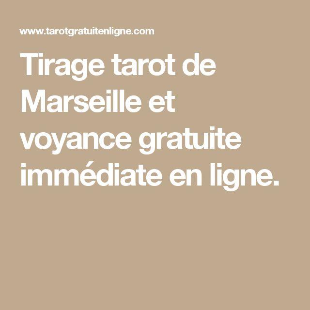 Tirage tarot de Marseille et voyance gratuite immédiate en ligne.
