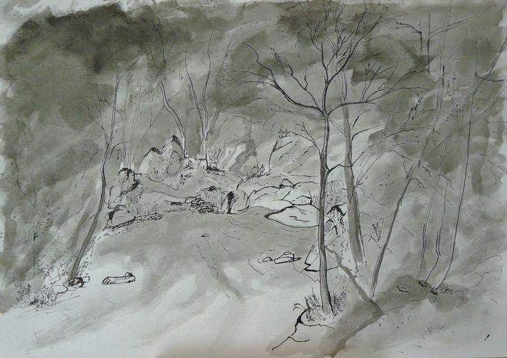 Encre sans titre 21x29.7 cm  Olivier Defay