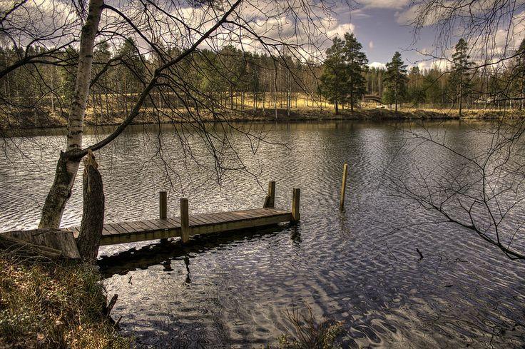 A small dock on lake Ahmo