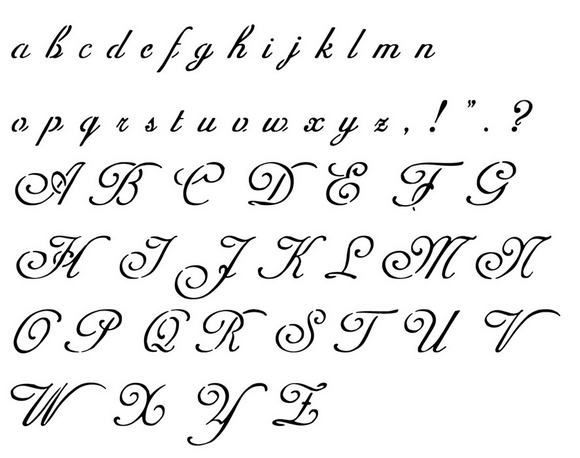 Tatouage Alphabet Gothique Designs And Fonts Tatto