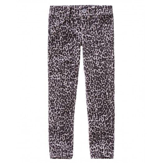 Παντελόνι skinny stretch, σενίλ με τέσσερις τσέπες και πέντε θηλύκια στη μέση, με καρέ στο πίσω μέρος. Με all over τύπωμα.