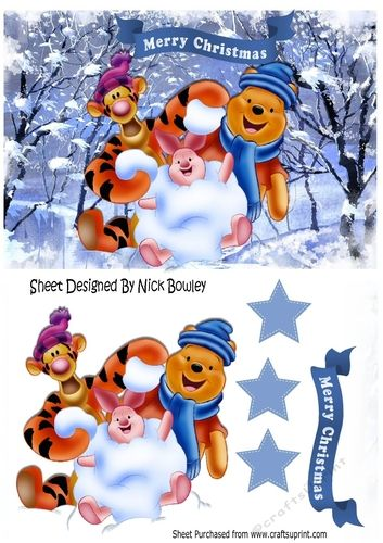 Snow much fun with my friends A5 by Nick Bowley Snow much fun with my friends A5 Makes a lovely christmas card christmas bannerstags can be seen in my designer resources