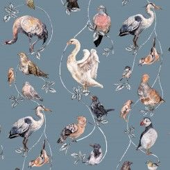 Flights of Fancy Wallpaper Duck Egg