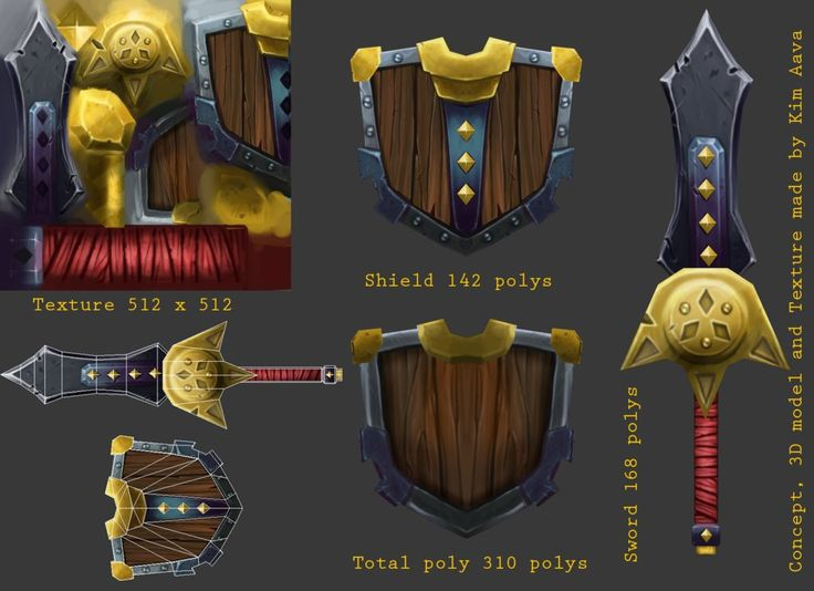 Hand-painted texture WIP thred - Polycount Forum
