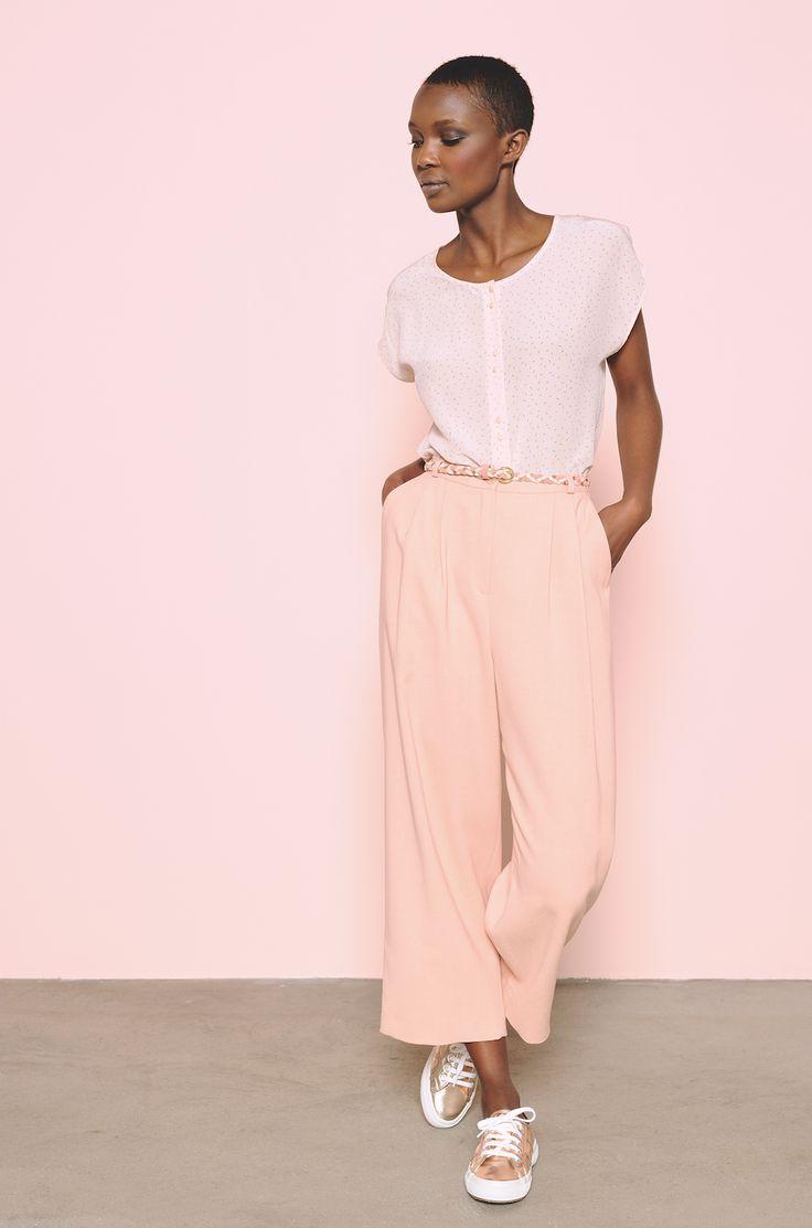 Le maxi-pantalon Salvador blush