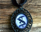$12.95  Divergent Jewelry: 3 Crows Fly over a Periwinkle Sky.