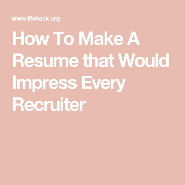Viac ako 25 najlepších nápadov na tému Make a resume na Pintereste - how to make a reume