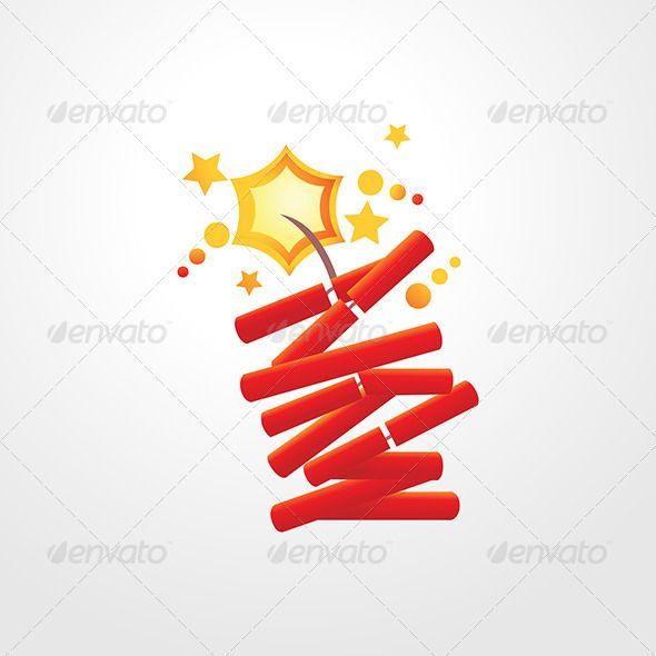 """Firecrackers  #GraphicRiver         """"Firecrackers Illustrations representing celebration, opening and happiness could be use for design decoration.   High quality whole vector shapes with smooth curves, sharp edges and soft colors. Easy modification all are separate objects. This graphic is suitable for any screen and print design. Scalable at any size from tiny icon to Huge wall graphic without loosing the quality.   - Zip contains Ai10 compatible EPS and High Quality JPG.""""     Created…"""