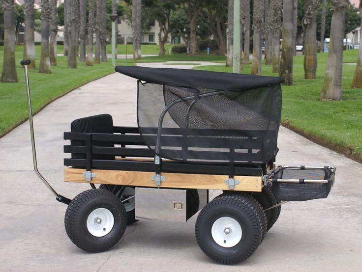 Who wouldn't like a wagon like this to haul around kids and gear at faire, at the campground, etc.?