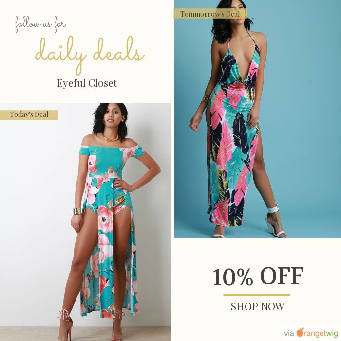 Today Only! 10% OFF this item.  Follow us on Pinterest to be the first to see our exciting Daily Deals. Today's Product: Bardot Floral Double Front Slit Romper Maxi Dress Buy now: https://small.bz/AAbnH9I #musthave #loveit #instacool #shop #shopping #onlineshopping #instashop #instagood #instafollow #photooftheday #picoftheday #love #OTstores #smallbiz #sale #dailydeal #dealoftheday #todayonly #instadaily