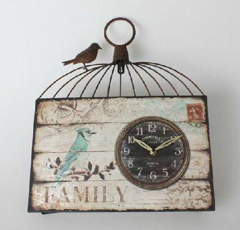 Reloj vintage pintura decorativa pinterest vintage for Reloj de pared vintage 60cm