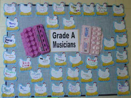 grade A musicians bulletin boardEaster Bulletin, Classroom Bulletin Boards, Music Bulletin Boards, Eggs Cartons, Bulletinboards, Classroom Ideas, Boards Ideas, Music Education, Music Classroom
