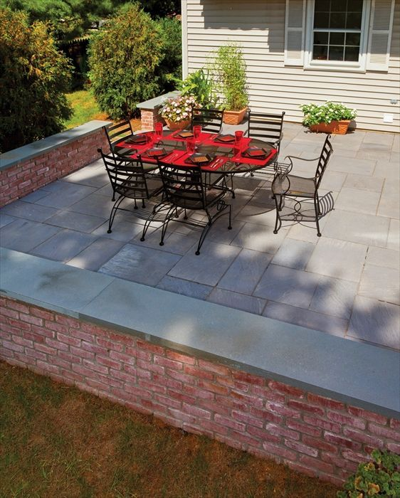 7 best retaining wall ideas-front images on pinterest   wall ideas ... - Stone Patio Wall Ideas