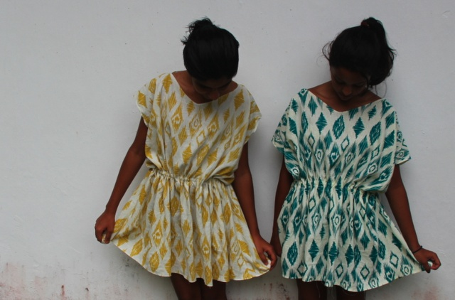 Queen Of Funky DIY: DIY Tribal Print Dress (small elastic waistband)