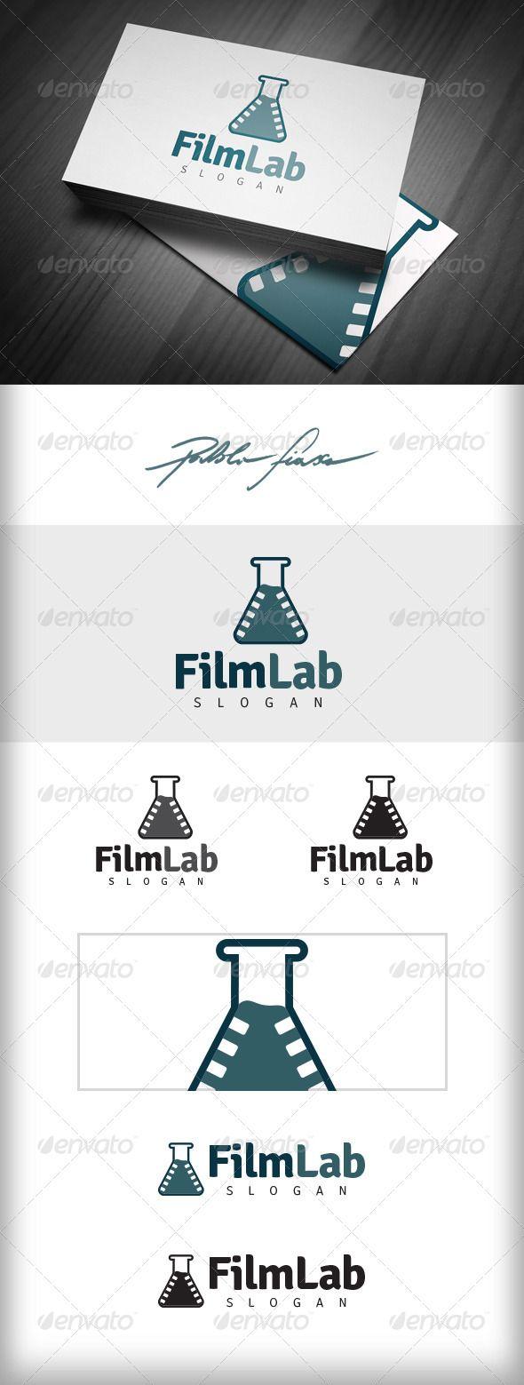 Film Lab Logo  Video App Logo  Film Logo — Vector EPS #video editing #science films • Available here → https://graphicriver.net/item/film-lab-logo-video-app-logo-film-logo/5725249?ref=pxcr