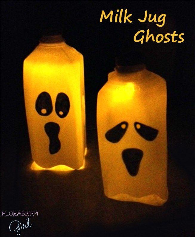 Milk Carton Halloween Crafts Part - 31: Best 25+ Milk Jug Ghosts Ideas On Pinterest | Halloween Milk Jugs, Halloween  Dance And Halloween Birthday Decorations