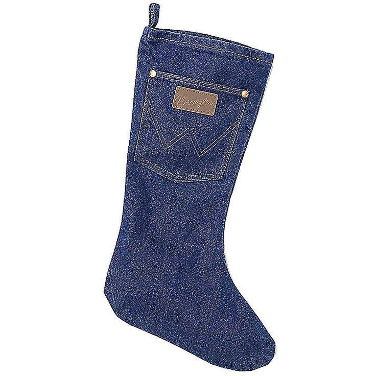 Wrangler Men's Denim Christmas Stocking (Size: 1)