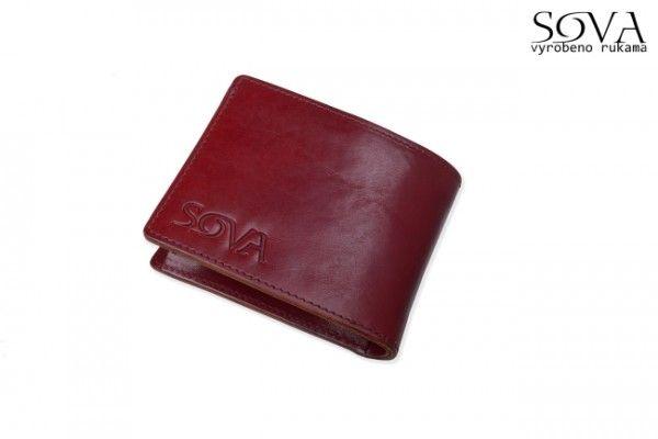 Pánská peněženka kožená TRE, pro leváky, Vino - Kliknutím zobrazíte detail obrázku.