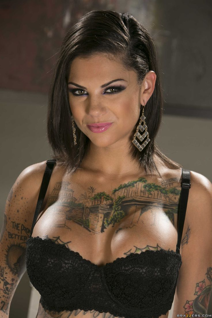 Tattooed chick bonnie rotten squirts all over herself in bondage 6