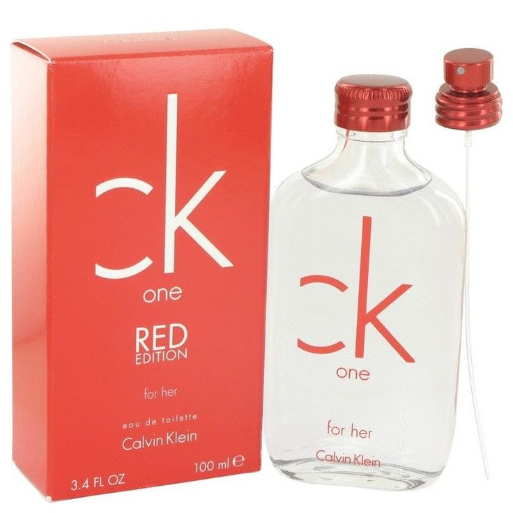 Ck 1 One Red Her 3.3 / 3.4 oz EDT By CALVIN KLEIN FOR WOMEN NIB (New in Box) #CALVINKLEIN