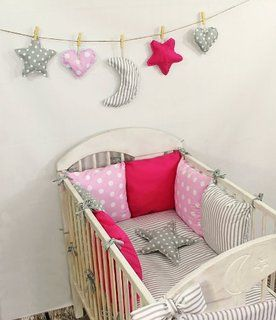 Baby Nestchen Bettumrandung 210 cm Design2 Bettnestchen