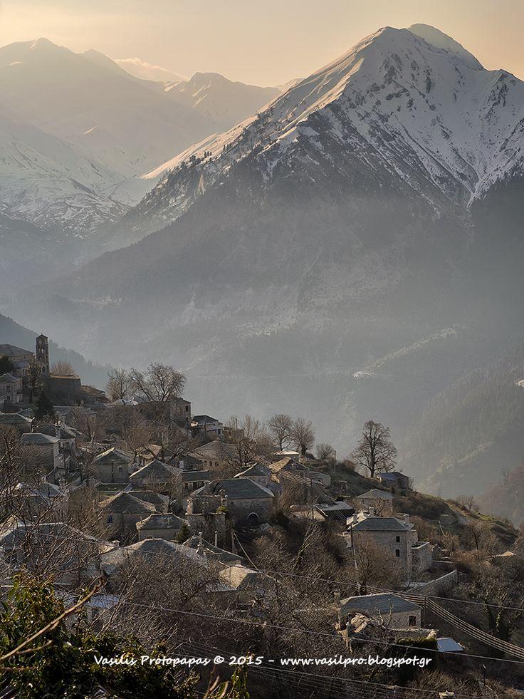 Kalarrytes village belong to de prefecture of Ioannina, located on de western slopes of Pindos, Epirus_ Greece