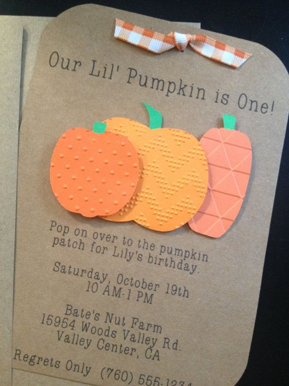 Hey, I found this really awesome Etsy listing at https://www.etsy.com/listing/161717220/pumpkin-patch-handmade-invitations