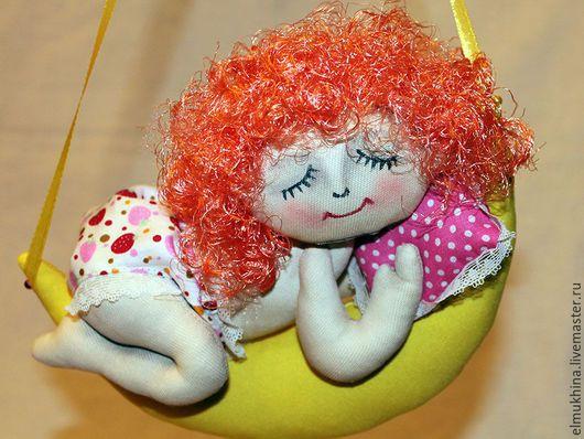 Ангел.*Интерьерная кукла.Для детской.Подарок новорождённому.Недорогой подарок. Подарок любимой.Ярмарка мастеров ручная работа.Handmade.Для ребёнка.Недорогой сувенир.Нежный ангел.Спящий ангел.