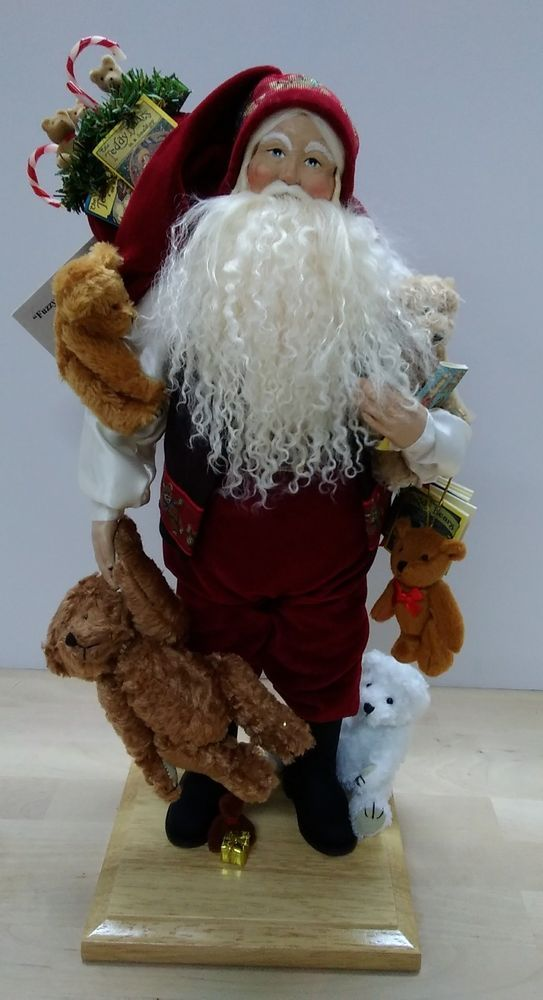 Lynn Haney Collection 2001 Fuzzy Wuzzy  Christmas Santa SIGNED BY ARTIST