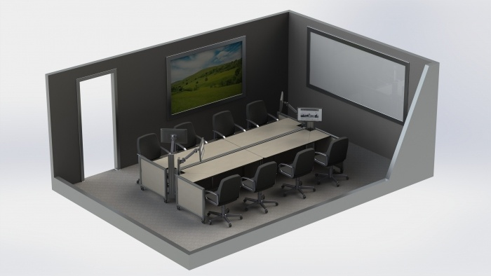 Video Conferencing: Boardroom Post Outside Layout