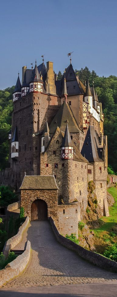 Check out the historic Eltz Castle above the Moselle River between Koblenz and…