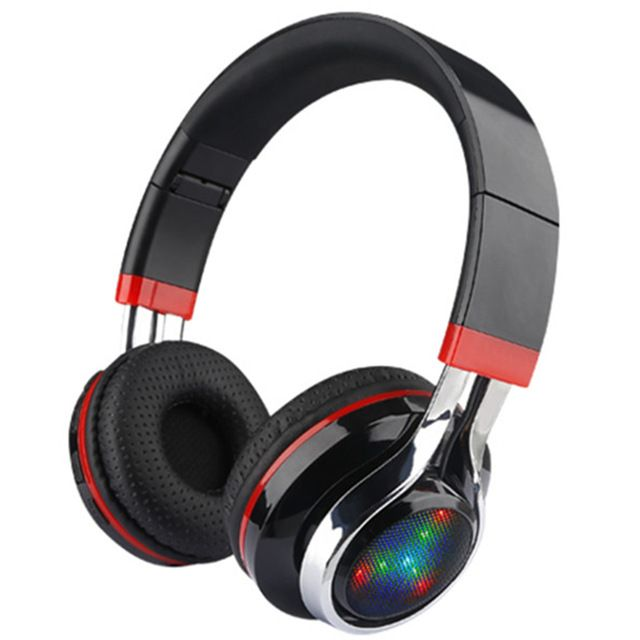 New Folding LED Wireless Bluetooth Headsets Stereo Adjustable  Great Heavy Bass Headphones TF Card For Xiaomi Samsung PC Gamer