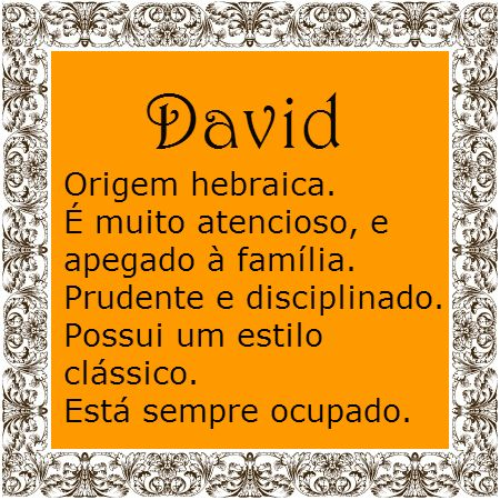 Significado do nome David