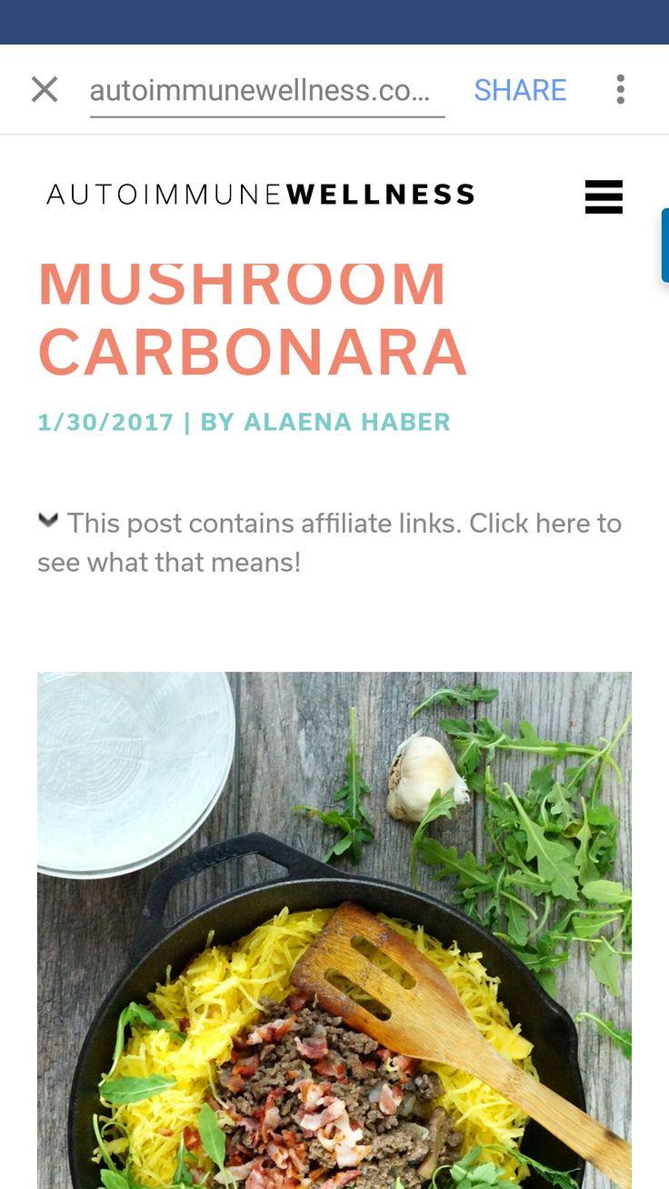 Beef mushroom carbonarra