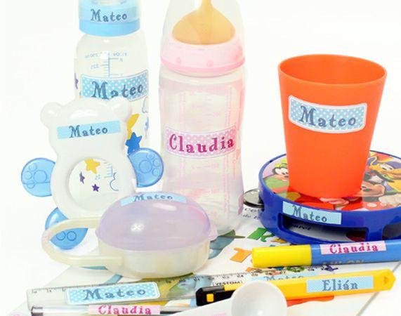 Pegatinas personalizadas con nombre para niños