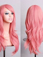 Fashion Color Cartoon Colored Wigs Special Masquerade 70 CM Pink Wig