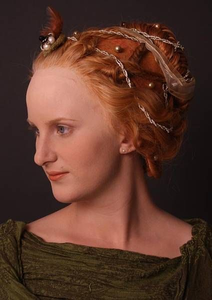 Reconstruction of women's hairstyles from the 14th and 15th century Europe