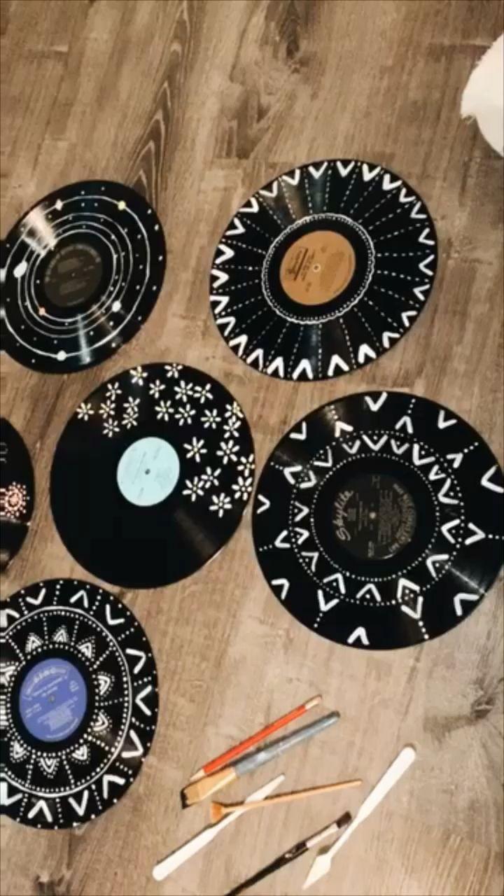 Vsco Dsco Records Recordplayer Vinyl Music Artesanías Con Discos Decoración Con Discos Arte De Discos De Vinilo