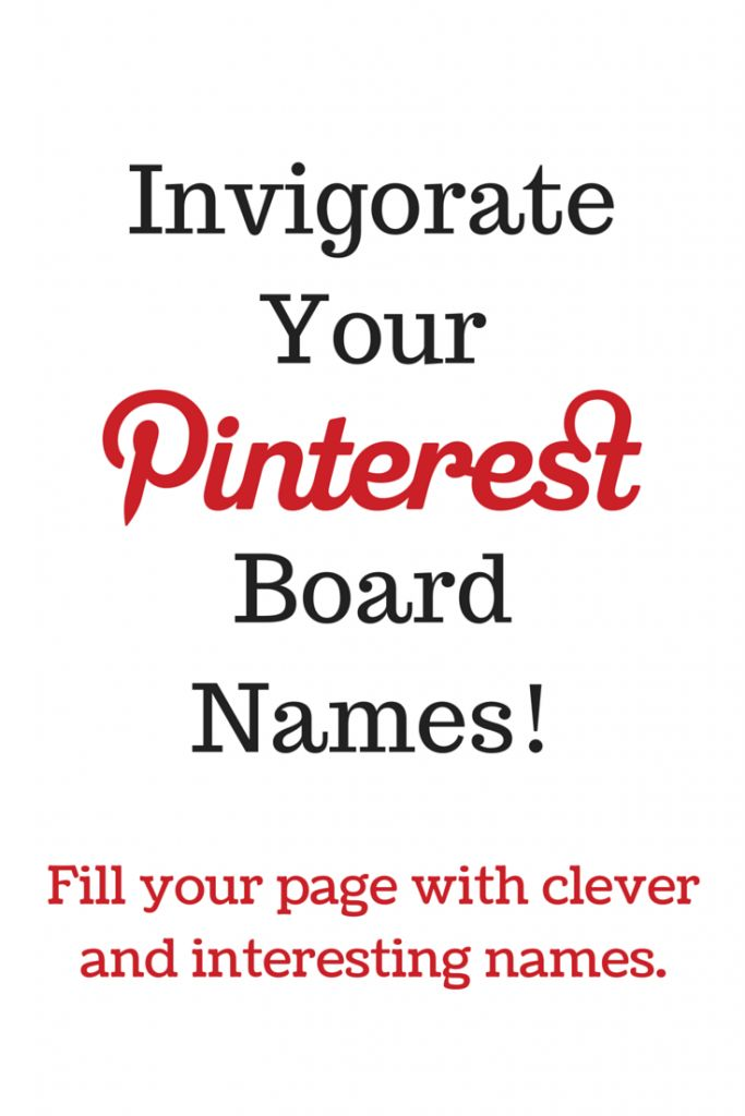 Naming your Pinterest boards something witty is not always easy; so check out this list of nearly 300 Pinterest board names! I'm sure you'll find a few favorites!