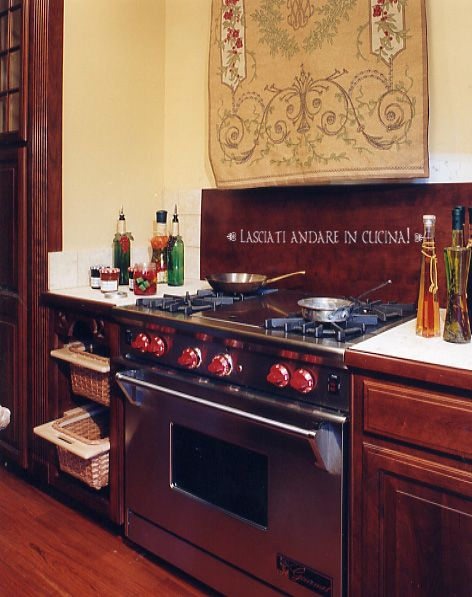 38 best tuscan kitchen images on pinterest tuscan for Tuscan style kitchen backsplash