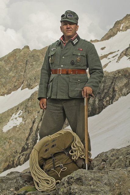 A German mountaineer soldier.