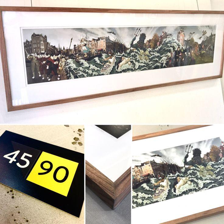 Limited edition print by Kozyndan custom framed by  45 90 in an Australian Blackwood frame