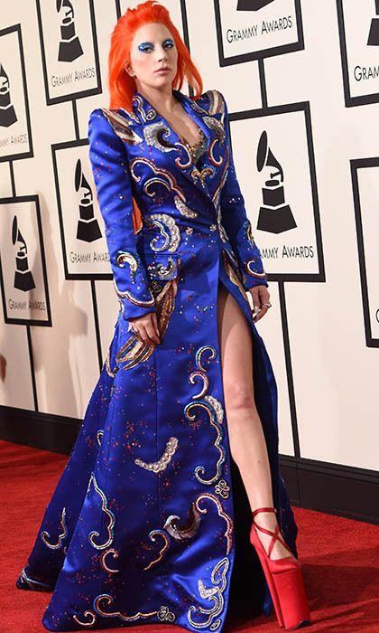 Lady Gaga wearing a custom Marc Jacobs piece.