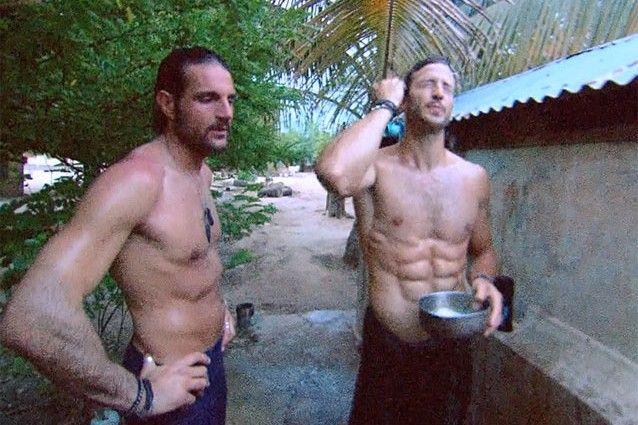 l'ormai famosa doccia di Luca e Michael