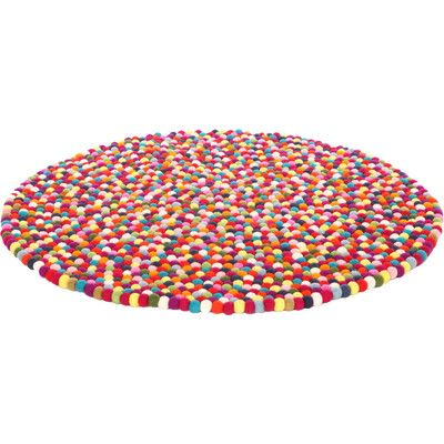 If money was not a consideration....Walk On Me Happy as Larry Original Felt Ball Kids Round Rug | Wayfair